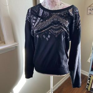Express beaded and sequined sweatshirt